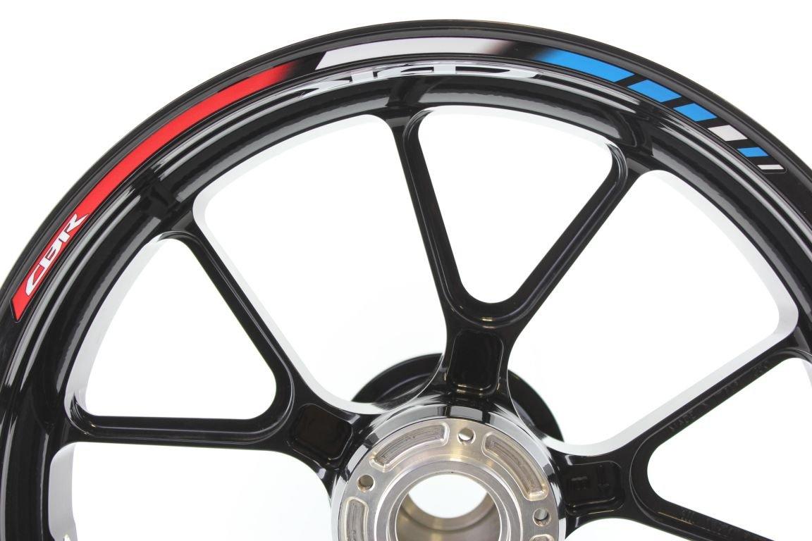 Rimstriping Honda CBR 650F HRC Blue Wheel Stripes Motorcycle Rim Stickers Decals