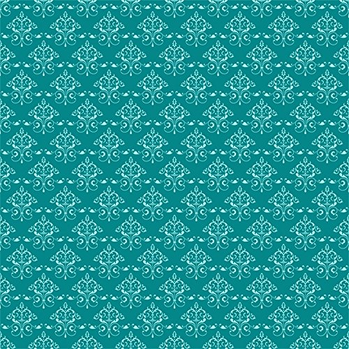 (LFEEY 6x6ft Dark Blue Damask Photo Backdrop Comupter Print Newborn Kids Baby Portrait Photography Background Vinyl Cloth Flowered Satin Pattern Photo Studio Pro )