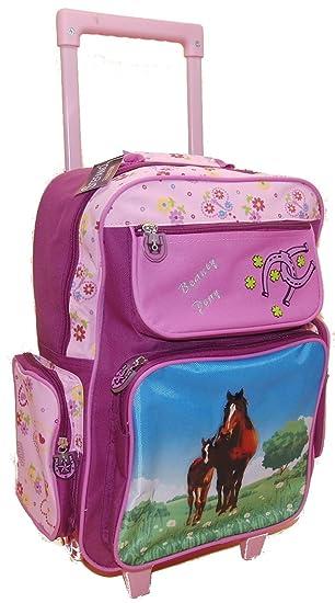Con ruedas de alta calidad - 5 bolsillos - caballos/Pony LILA - para niños
