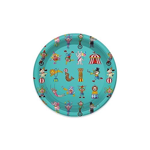 Platos de Plástico con diseño Circus niños ideal para ...