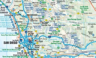 California, mapa de carreteras plastificado. Escala 1:1.200.000 ...