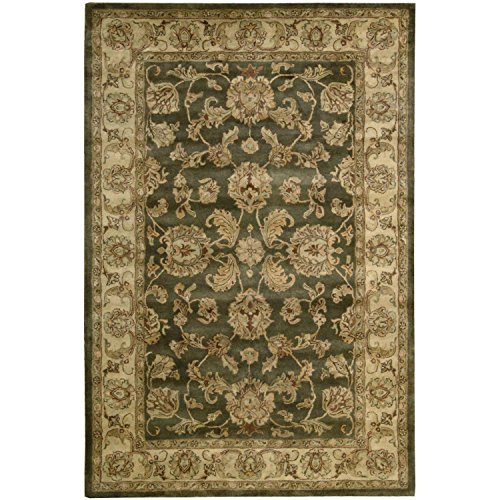 (Nourison Jaipur (JA23) Green Rectangle Area Rug, 3-Feet 9-Inches by 5-Feet 9-Inches (3'9
