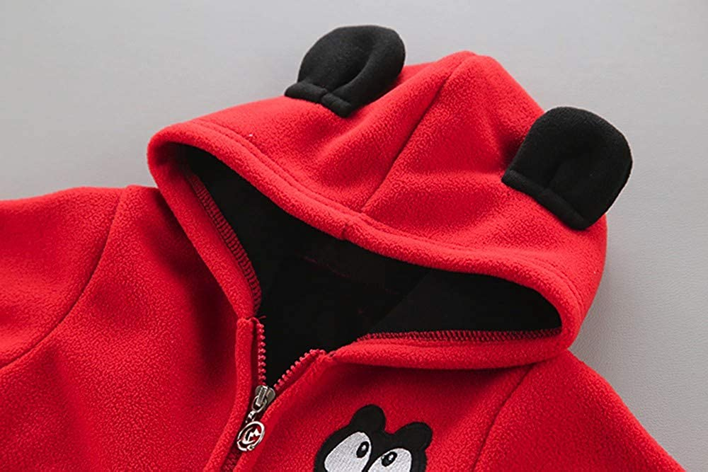 Amaone Baby Jackets Girls Boys for 1-3 Years,Cartoon Hoodie Fleece Infant Thick Warm Coats Toddler Outerwear Autumn Winter Unisex Newborn Tops Clothes