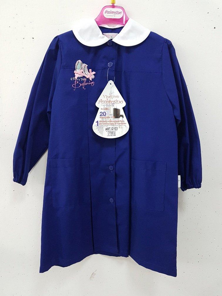 Schürze Schule weiblich blau Ambrosino 90 blau
