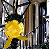 Large Yellow Ribbon Pull Bows - 9'' Wide, Set of 6, Support Our Troops Ribbons