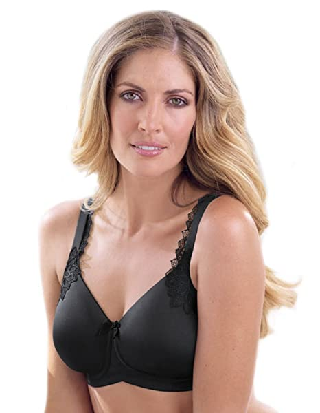 Anita Care 5715X-001 Womens Stella Black Padded Non-Wired Support Coverage Mastectomy Full
