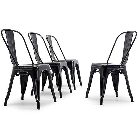 Amazon.com: Juego de 2/4 sillas de comedor estilo clá ...