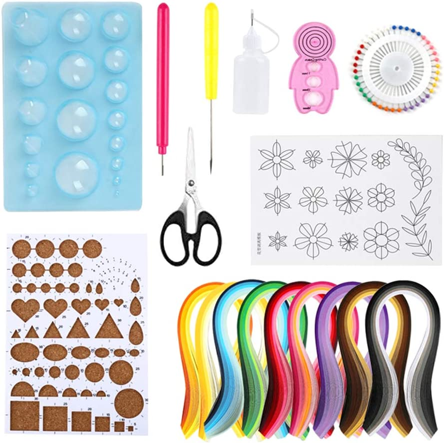 Exceart Paper Quilling Kit Art Paper Wrtting Paper Tool for Arts and Craftwork Projects 1 Set//18pcs