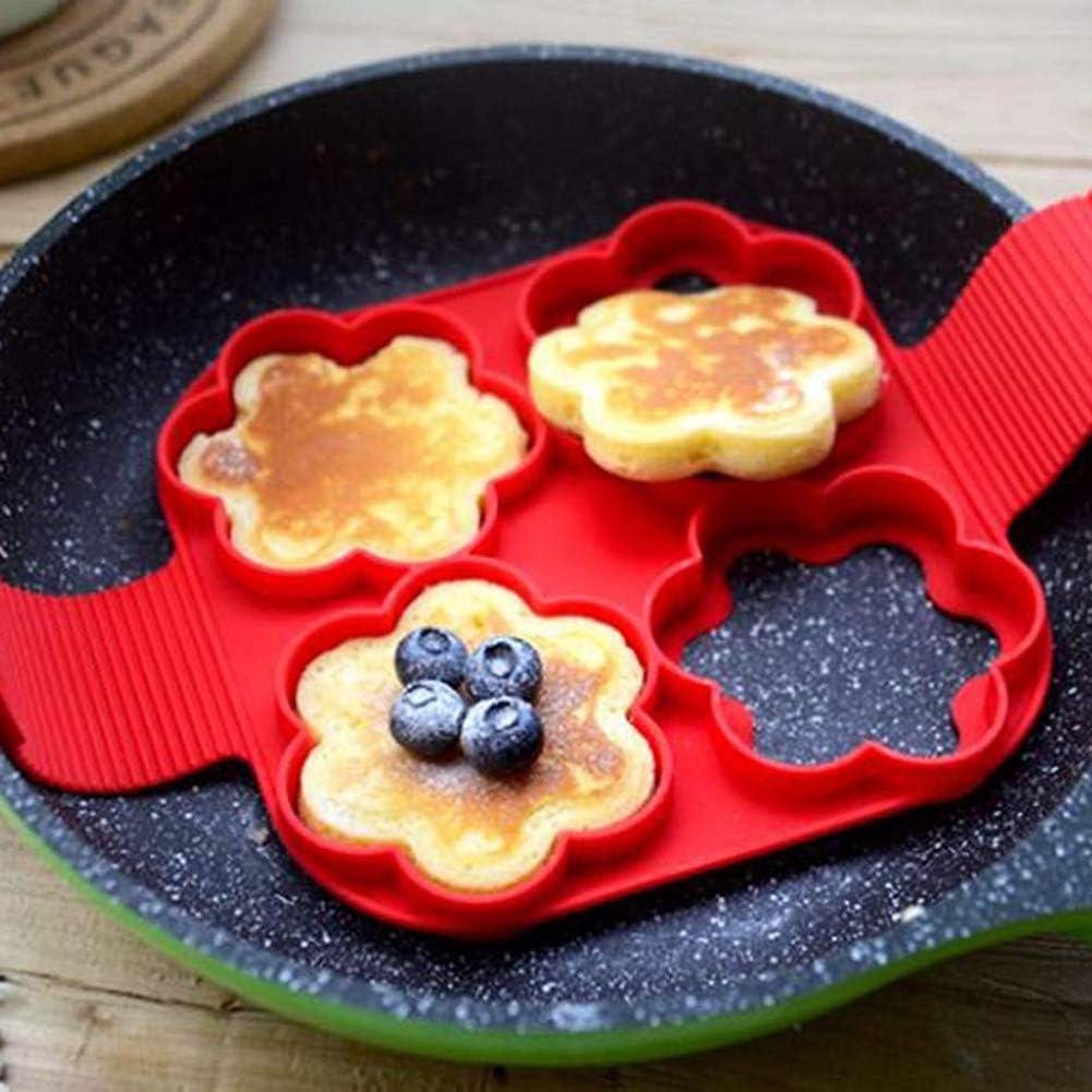 Chanhan Flip Cooker Pancakes Mold Nonstick Silicone Pancake Mold Maker Breakfast Pancake Shaper