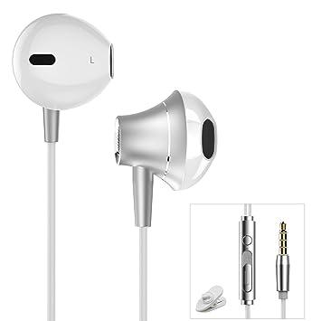 Auriculares In-Ear Cancelación de Ruido Auriculares con Microfono para iPhone Samsung Galaxy J7/