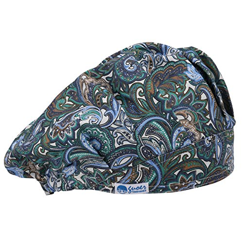 GUOER Scrub Hat Bouffant Scrub Cap One Size Multi Color (Color19)