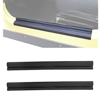 Hooke Road 1997-2006 Jeep TJ Wrangler Black Door Sill Entry Guard Scuff Plate: Automotive