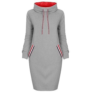 Damen Kleider, GJKK Damen Elegant Beiläufiges Winter Hemd Kleid ...
