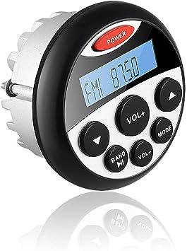 Sistema de audio marino Bluetooth barco estéreo, 1 par de radio estéreo Bluetooth para coche 5.2