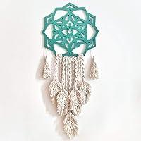 Pedido Val. Mandala turquesa con macramé