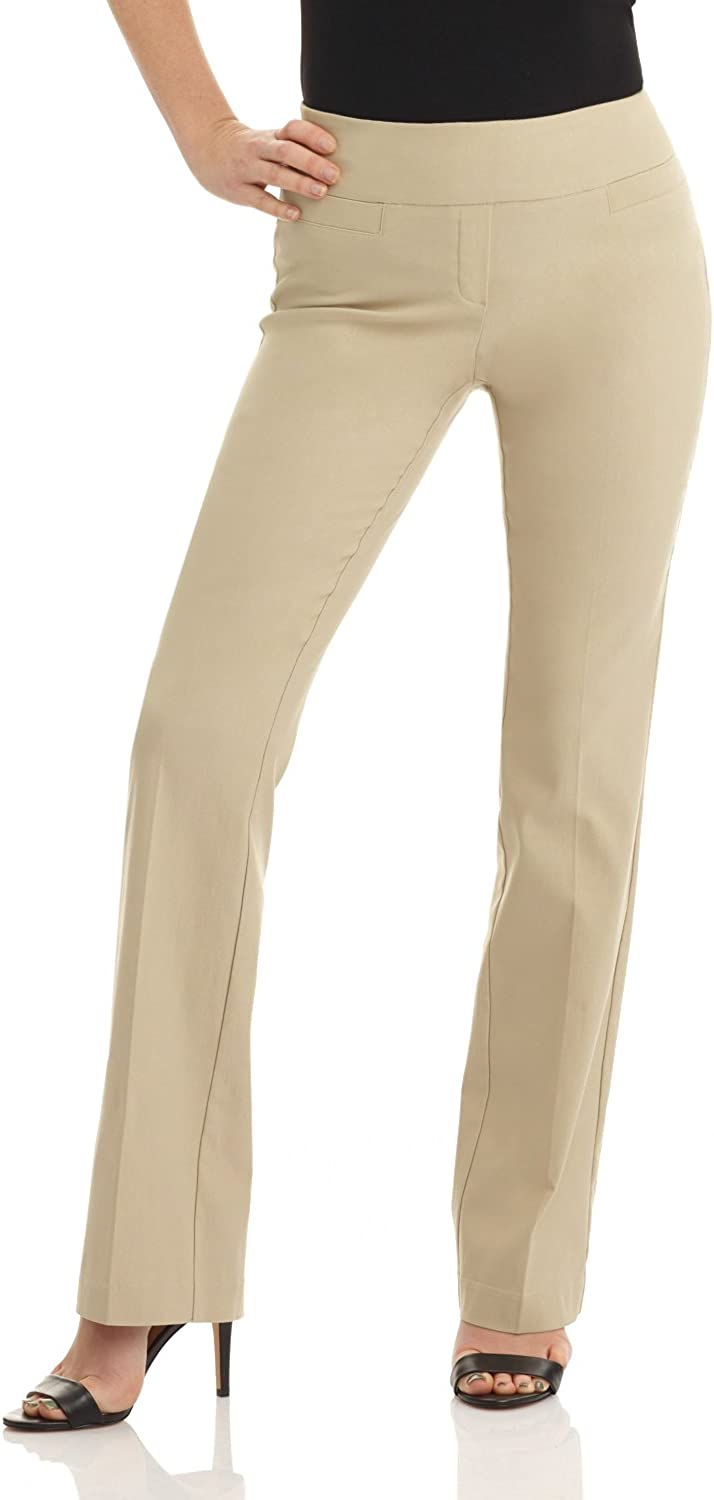Rekucci Womens Ease into Comfort Boot Cut Pant