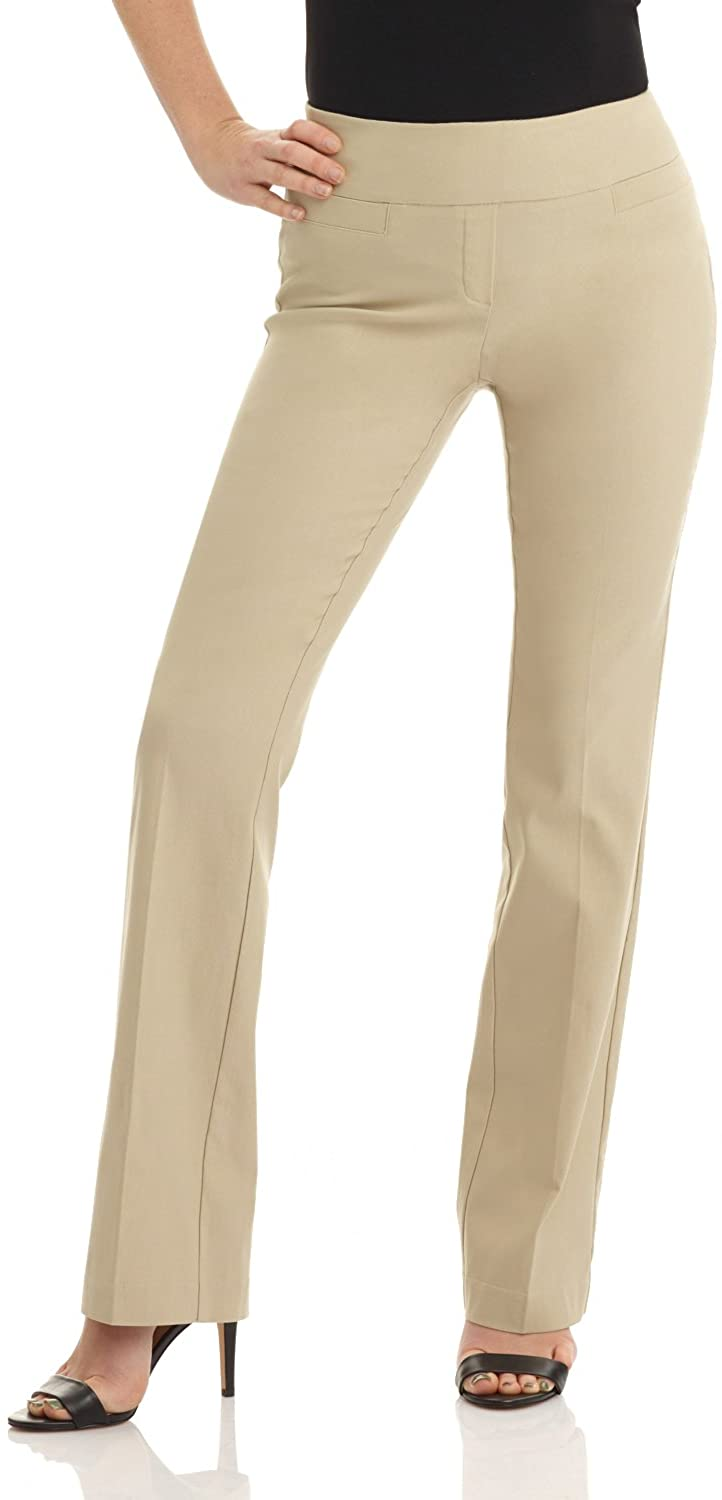 Rekucci Women's Ease into Comfort Boot Cut Pant at  Women's Clothing store
