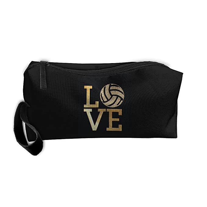 b70eb55dc679 Amazon.com: Cosmetic Bags Brush Pouch Makeup Bag Volleyball Bling ...