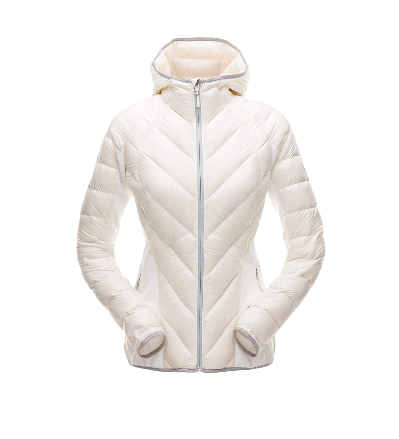 White White Alloy L Spyder Women's Syrround Down Hybrid Hoody Jacket Down-Outerwear-Coats