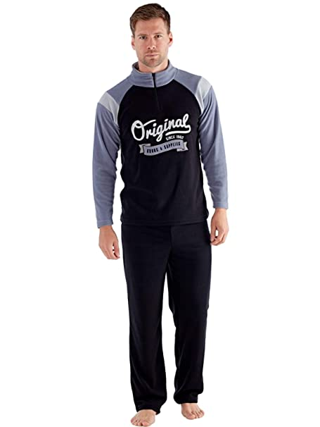 Harvey James - Pijama - para Hombre Black-Grey Large
