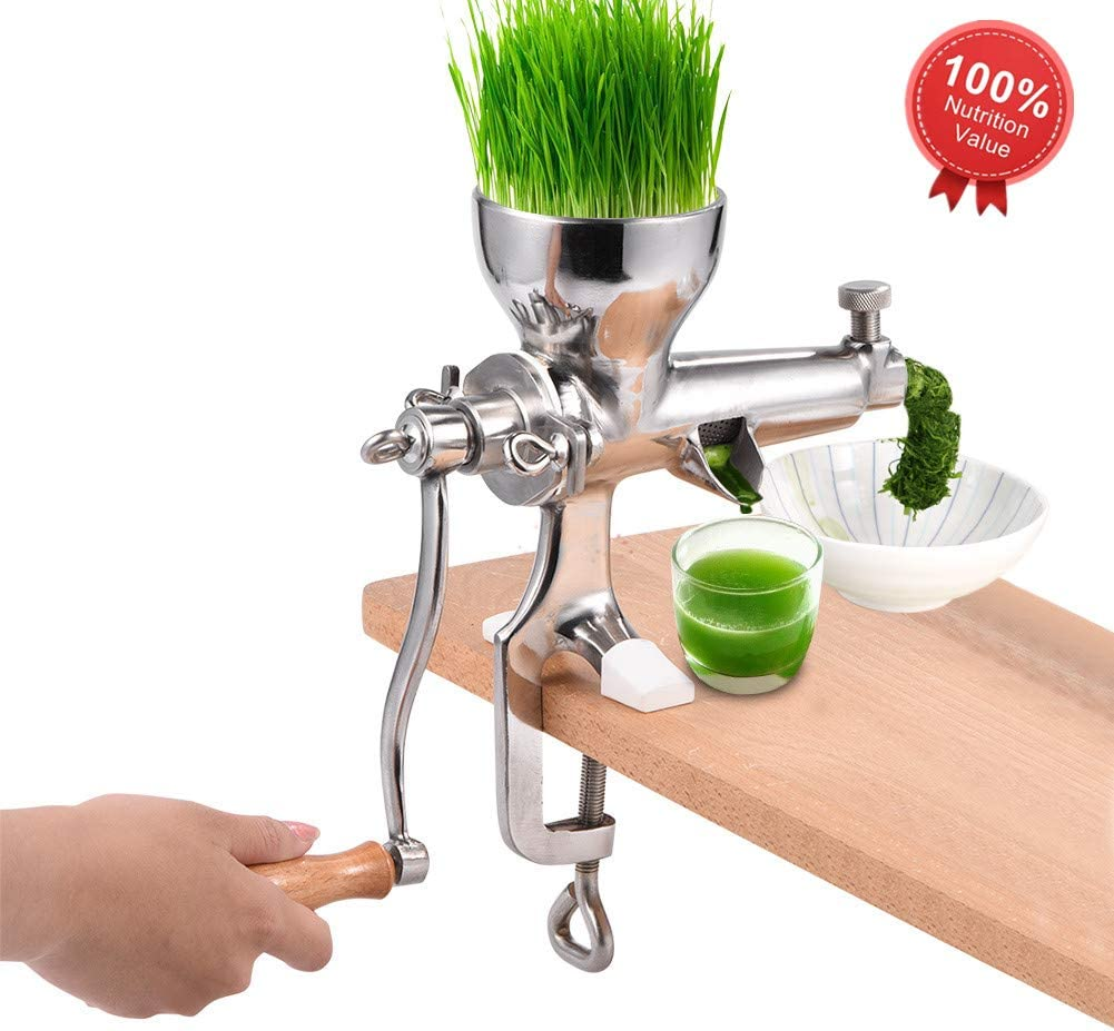 Wheat Grass Extractor, Stainless Steel Manual Wheatgrass Extractor Wheat Grass Wheatgrass Manual Hand Juicer Health Juice Extractor Tool Wheat Grass Juicer
