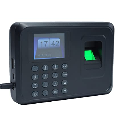 Aibecy Huellas Biométrico de Asistencia Máquina /Registrador de Cheques del Empleado / 2.4 Pulgadas TFT DC 5V,Negro: Amazon.es: Bricolaje y herramientas