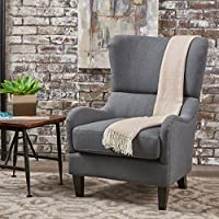 Quinn Navy Blue Fabric Sofa Chair (Charcoal)