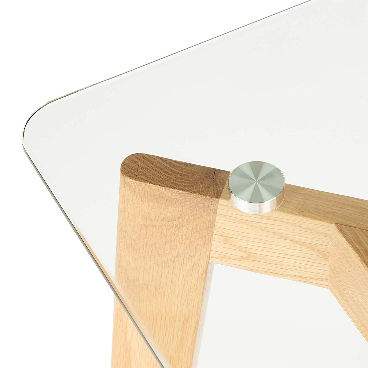 Hartleys Oak and Glass Console Table