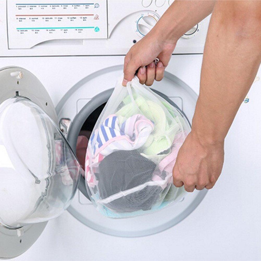 Nylon Small Blanc Sukisuki /à Linge /à Laver Care Home Gadgets Soutien-Gorge V/êtements sous-v/êtements de Protection en Maille Sac
