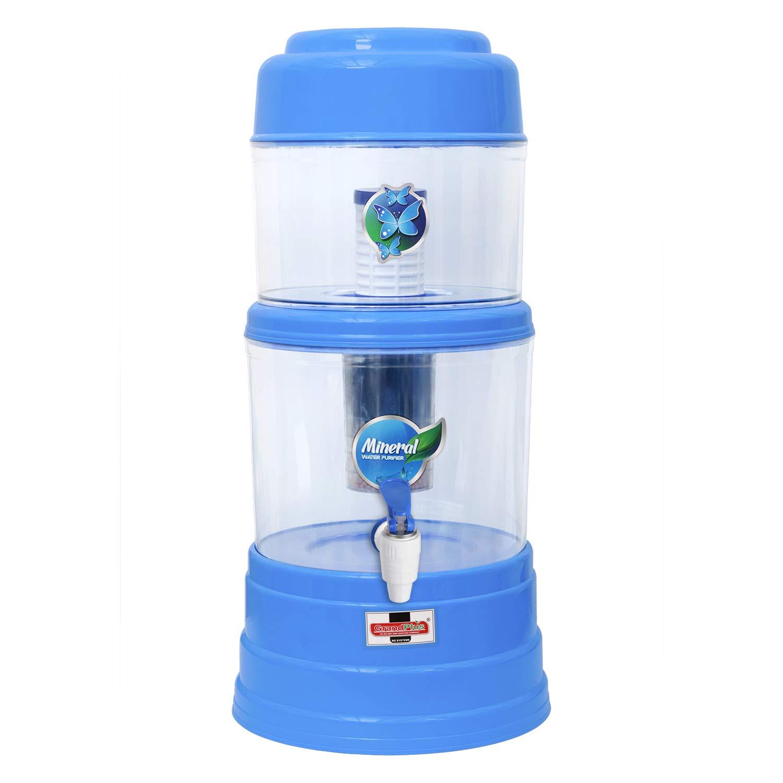 Grand Plus Aqua Mineral Pot 16 L 16 Gravity Based Water Filter (Multicolor)