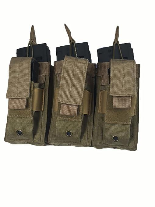 Condor MA27 Black MOLLE Modular Triple Open Top Bungee Rifle Magazine Mag Pouch