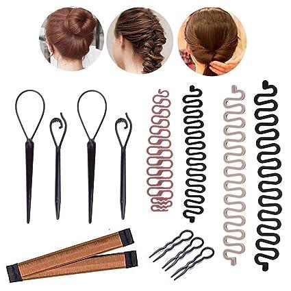 Accesorios de Peinado, MYSWEETY Mágicos Gomas moño/ Modelado de Cabello/Espirales para el