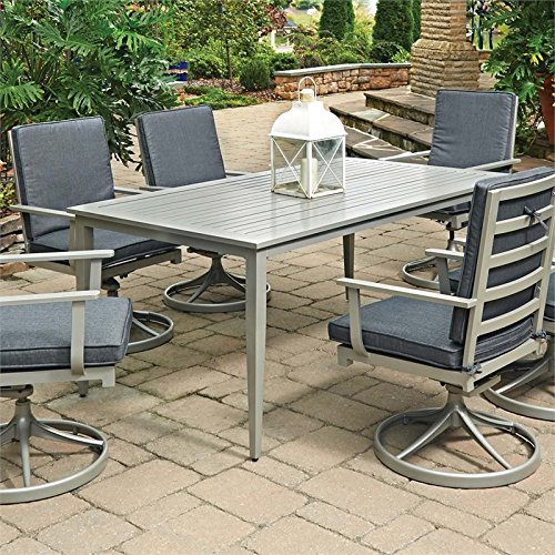 Home Styles 5700-31 South Beach Rectangular Patio Dining Table, Gray