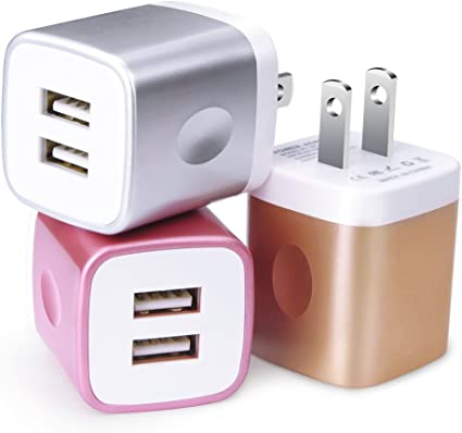 Charger Box,One Port USB Wall Charger,5-Pack 5V//1A Single USB Wall Charging Plug Block Travel Charger Cube Compatible iPhone 11 pro,Xs,XR,Xs Max,X,8,Samsung Galaxy A10s//A10e//S10e//S10//Note 10+//9//8,LG