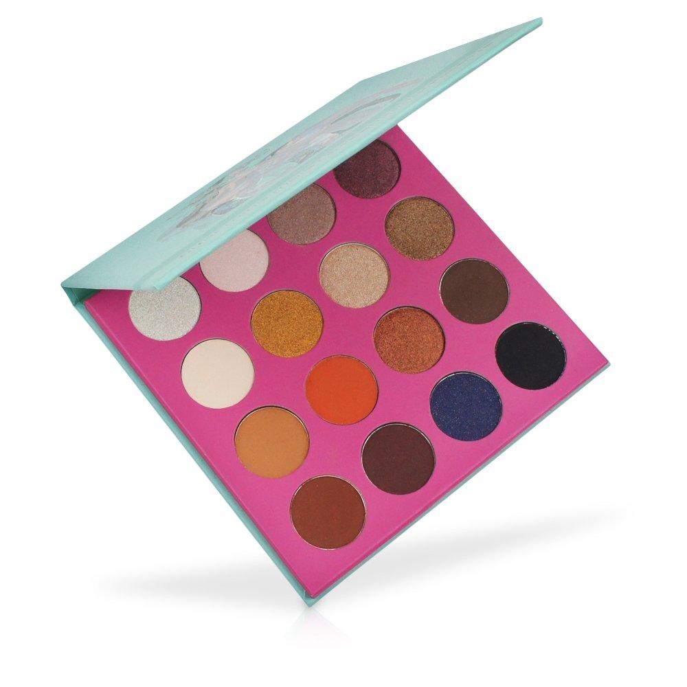 MISKOS 16 Color Summer Natural Eyeshadow Palette 9 Shimmer 7 Matte Naked Nude Netural Eye Shadows Highly Pigmented Waterproof Eye Makeup Kit