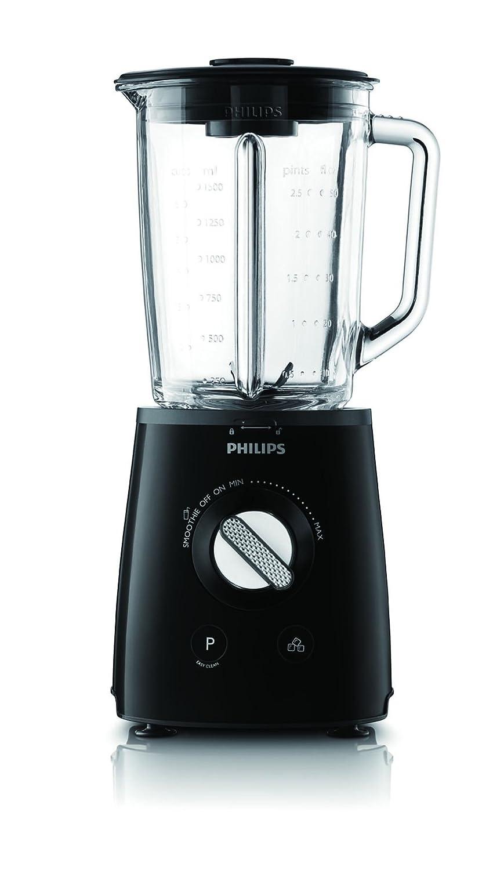 Philips HR2095/90 - Batidora Avance Collection 700 W Jarra de cristal de 2 litros con espátula, tecnología ProBlend de 6 cuchillas, botón Pulse y para batidos de un solo toque