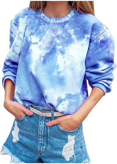 VEMOW Sudadera Mujer Pullover Moda Casual Gradual Manga Larga Cuello Redondo Camisa Blusas Tops Camisa OtoñO Invierno: Amazon.es: Ropa y accesorios