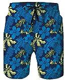 RAISEVERN Men's Boys Beach Pants Shorts Aniaml Flamingo Print Swimming Trunks Swimwear Quick-Drying