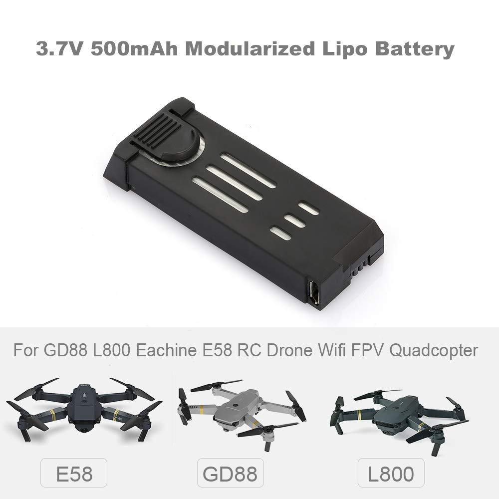 Cigooxm 3.7 V 500 mAh batería Lipo modularizada para GD88 L800 ...