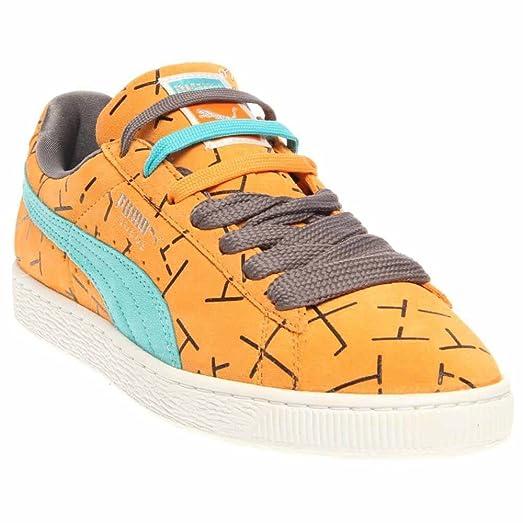 Puma Mens Classic 1993 The List Suede Skate Fashion Sneakers, Orange, Size  8.5