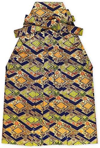 七五三 袴 3歳 男の子 金襴生地の袴 53cm 単品 合繊「金×紺」OHB53-1740tan