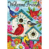 Welcome Friends – Standard Size, Decorative Double Sided, Licensed and Copyrighted Flag – Printed IN USA by Custom Decor Inc. 28 Inch X 40 Inch approx. Review