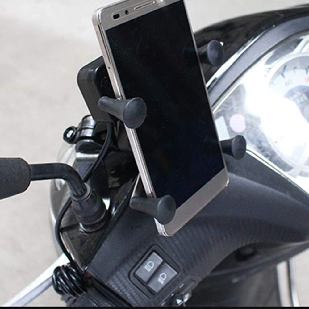 blendivt Universel Support Telephone Moto Ajustable Anti-Vibrations Rotation De 360 Degr/és Install/é pour Smartphone 4,0 /À 6,0 Pouces