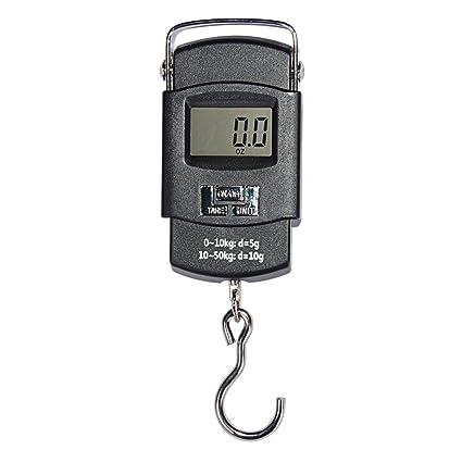 Báscula Digital de Precisión Balanza Electrónico De Mano Colgar Equipaje 50kg para Maletas Equipaje de Viaje