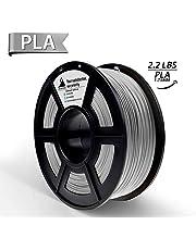 PLA Filament, 3D Hero PLA Filament 1.75mm,PLA 3D Printer Filament, 3D Printing Materials, Dimensional Accuracy +/- 0.02 mm, 2.2 LBS(1kg),1.75mm Filament,Grey