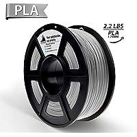 PLA Filament,3D Hero 3D Printer Filament Silver PLA, Dimensional Accuracy +/- 0.02 mm,1.75 mm 1 kg Spool(2.2lbs)