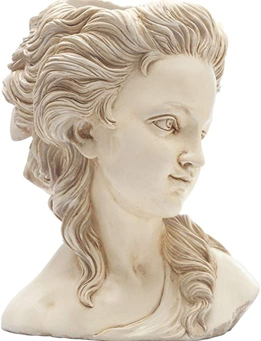 RSRZRCJ Estatuas Figuritas Decorativas Jardín Escultura Diosa Griega Cabeza Maceta Flor Creativa Jardín Maceta Decoración: Amazon.es: Hogar