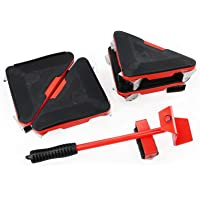 Furniture Lifter Mover With 4 Triangle Moving Sliders & 1 Metal Lift Tool,handling Tool For Bulky Heavy Loads In Home…