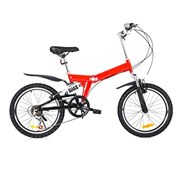MH-LAMP Bicicleta Montaña Plegable, Bicicleta Doble V Freno, MTB ...