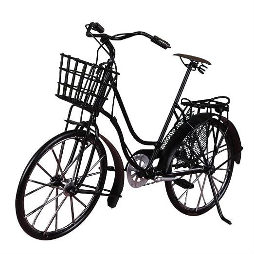 Decoración,Modelo Moderno de Bicicleta de estaño Modelo Retro ...